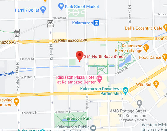 Map of Kalamazoo office
