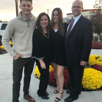 Julie Laird with her family